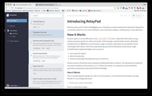 RelayPad screenshot