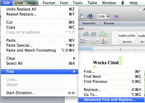 How to do 'find and replace' within currently selected text in