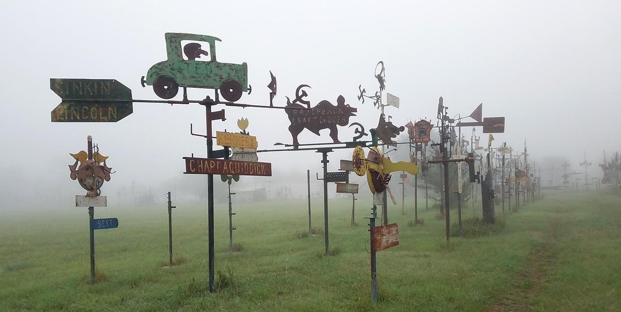 M.T. Liggett roadside sculptures