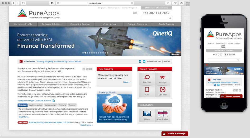 PureApps corporate website