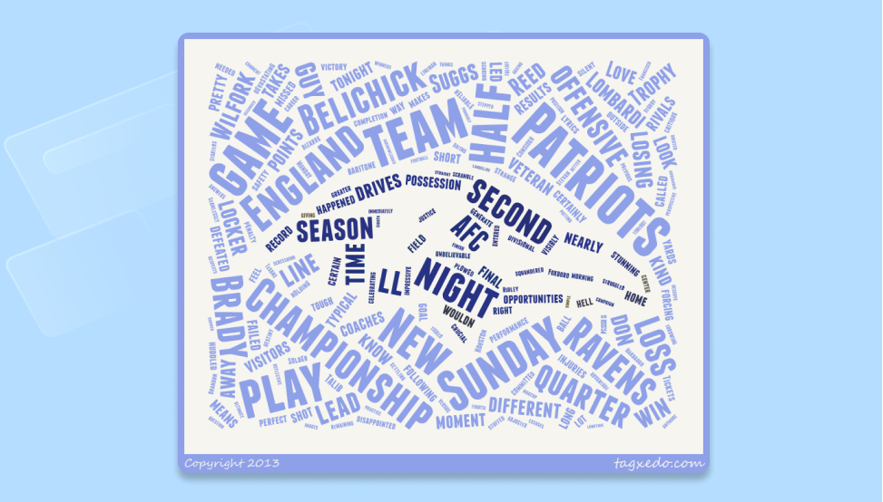 A word cloud created with the Tagxedo word cloud generator