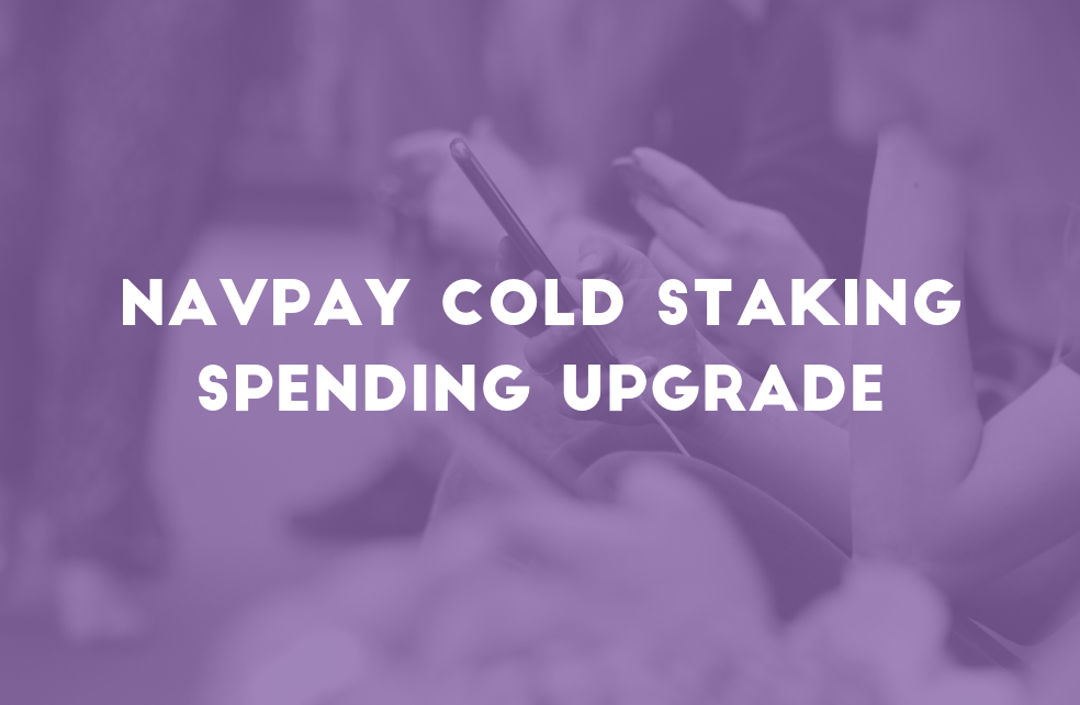 NavPay Cold Staking Upgrade