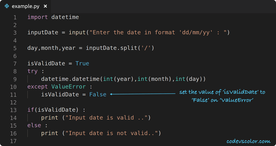 python check if date is valid