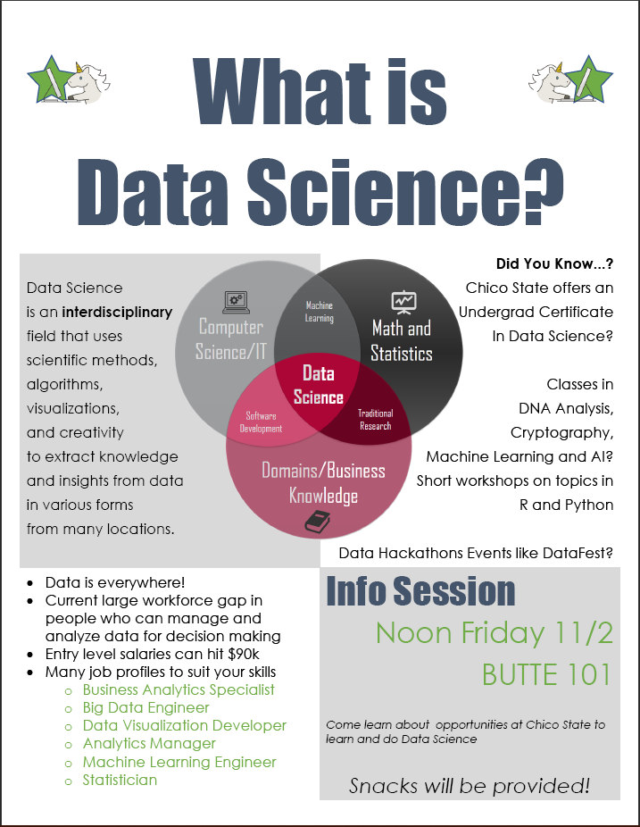 Data Science info session ·