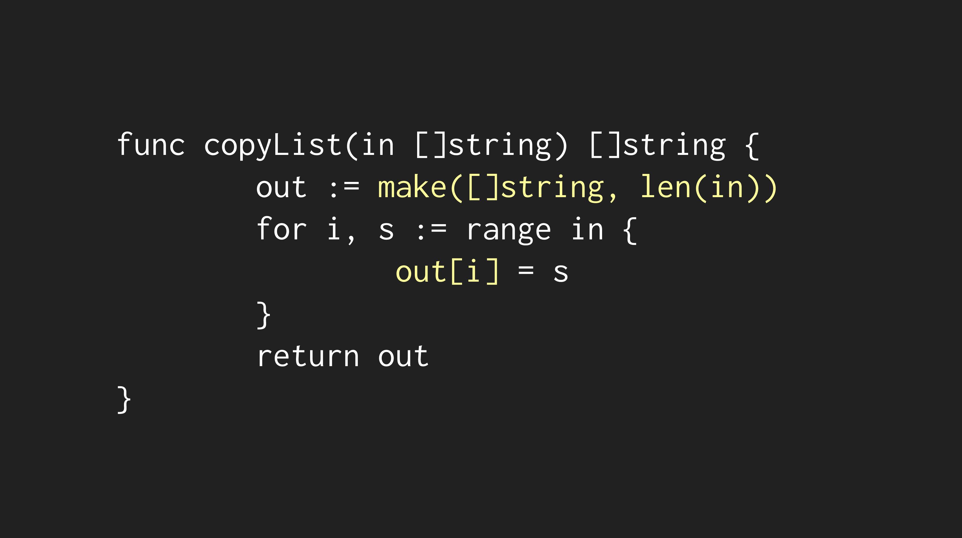 Optimized copyList Code