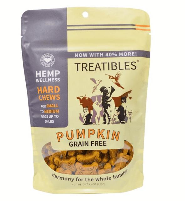 Treatibles Small Pumpkin Grain Free Hard Chews