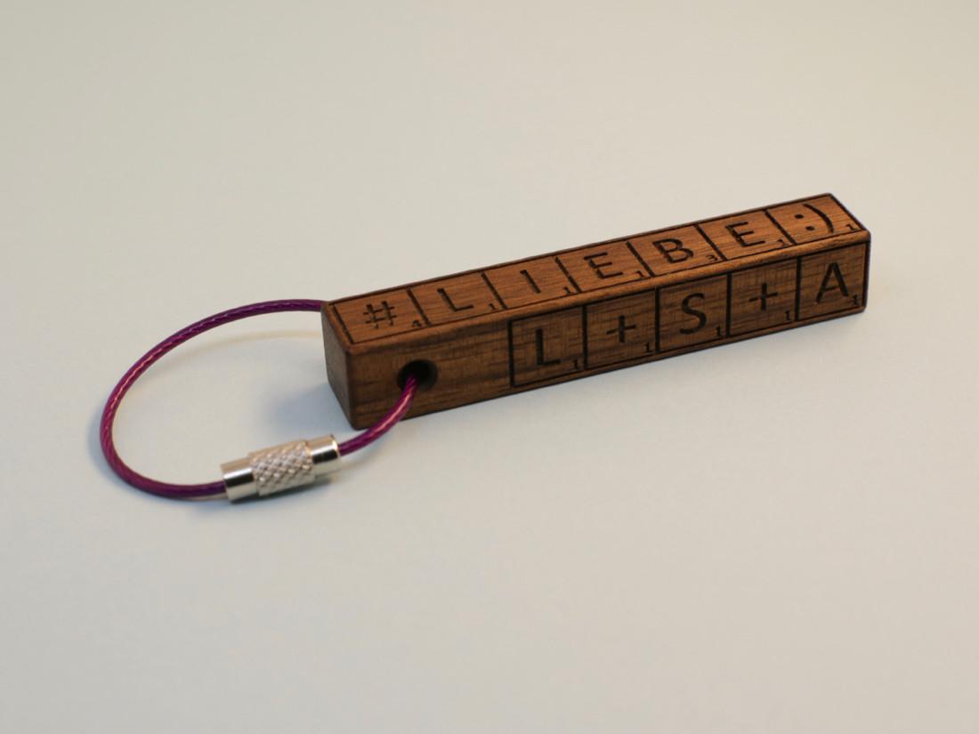 Schlüsselanhänger als persönliches Geschenk.