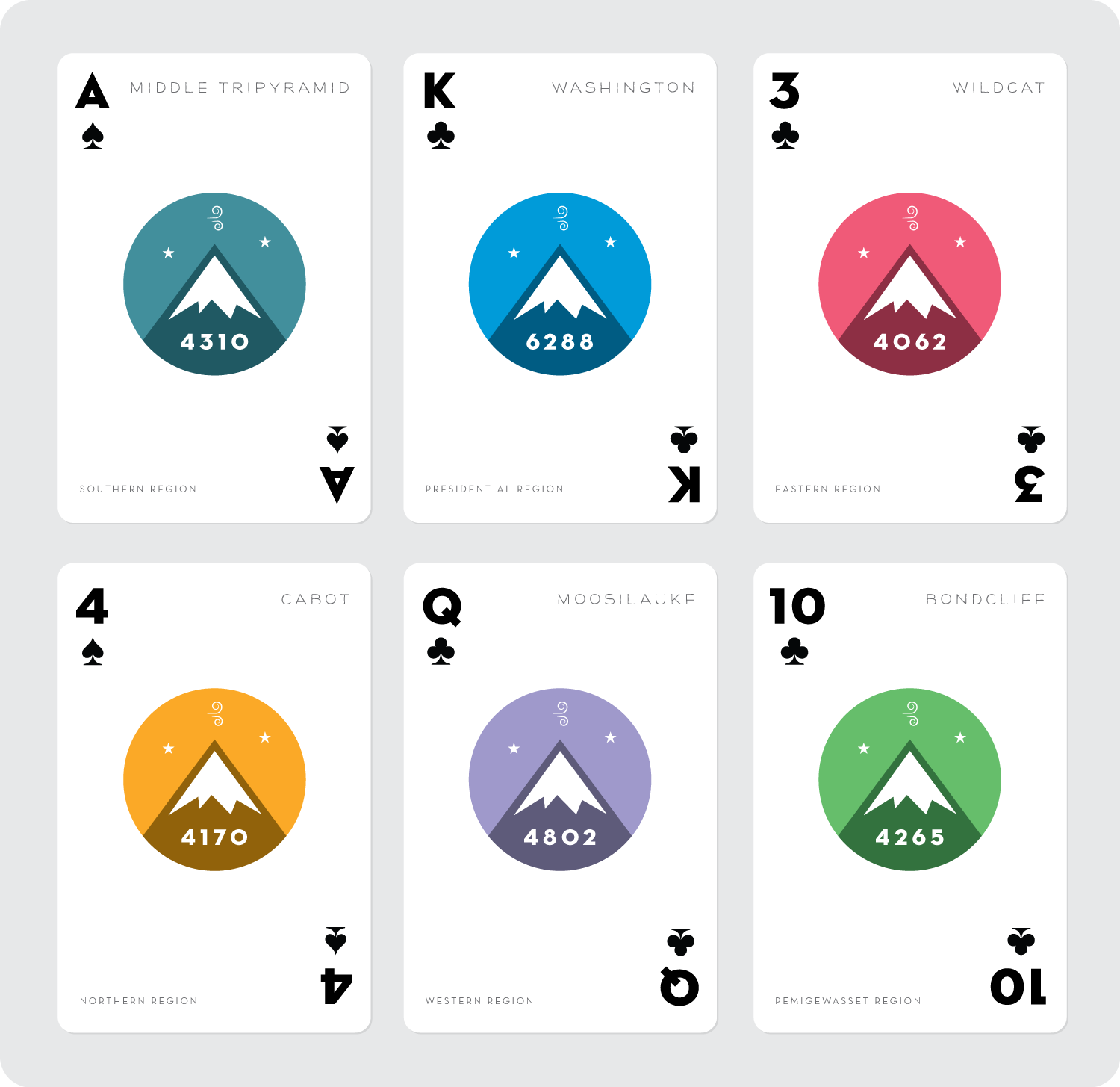 4000 footer playing cards