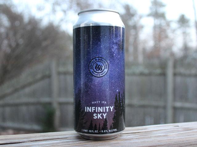 Infinity Sky, a Hazy IPA brewed by Untold Brewing
