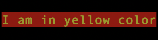 Console text color