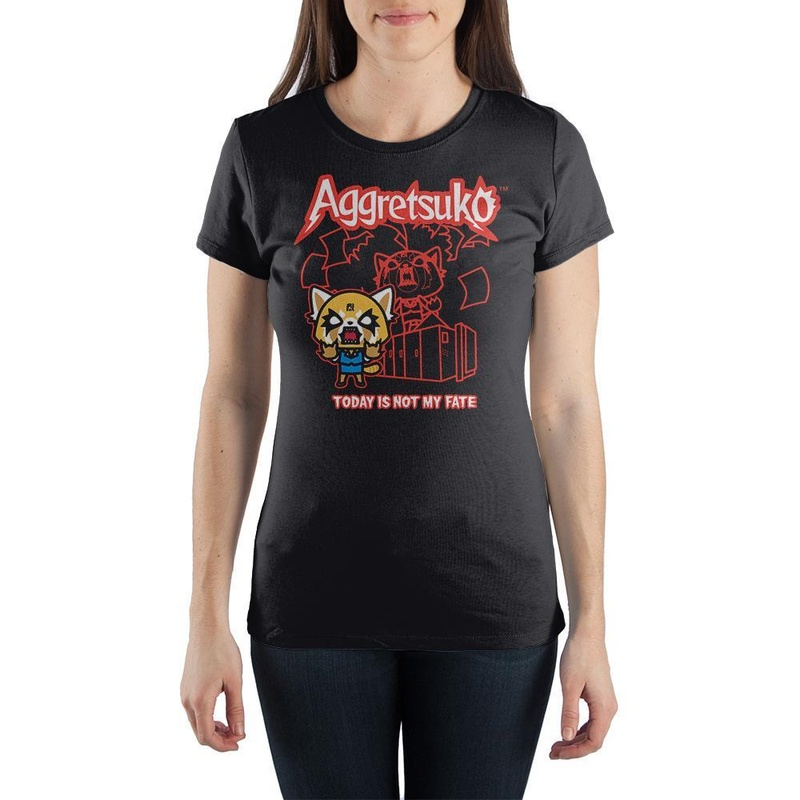 Aggretsuko Today Is Not My Fate Black T-shirt wear