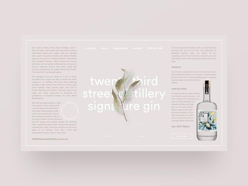 Gin distillery website exploration — part 03