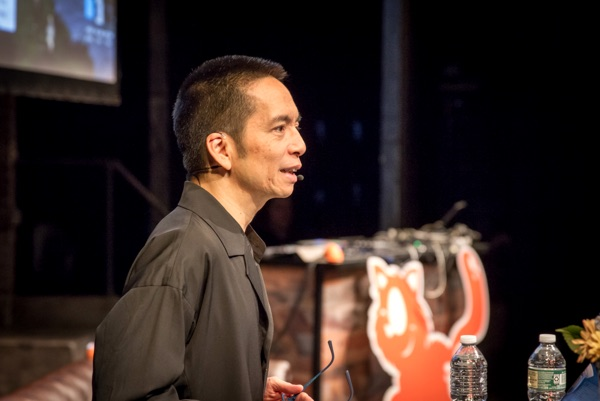John Meada at SmashingConf NY in 2018