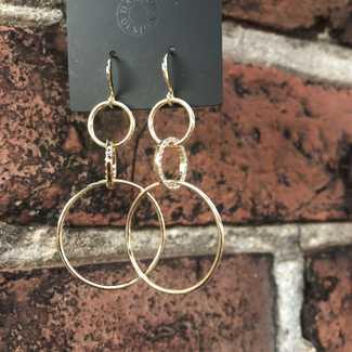 Pilgrim Triple Rings Sheppard Hook Earring