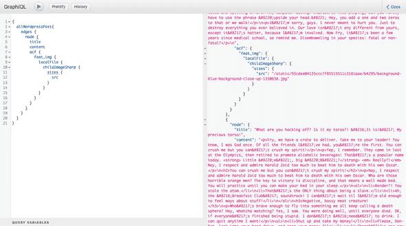 GraphQL query tests
