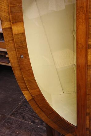 restored cabinet damage