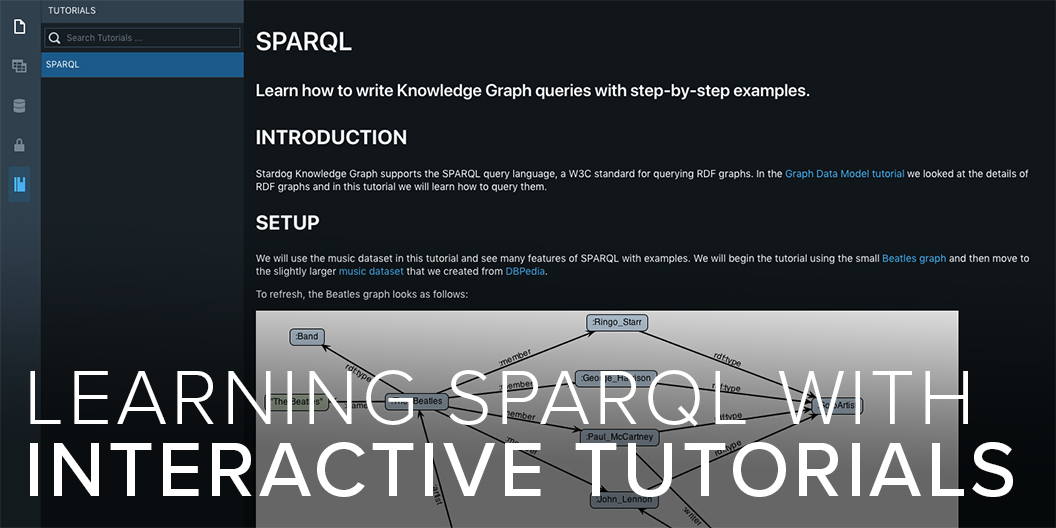 Learning SPARQL with Interactive Tutorials