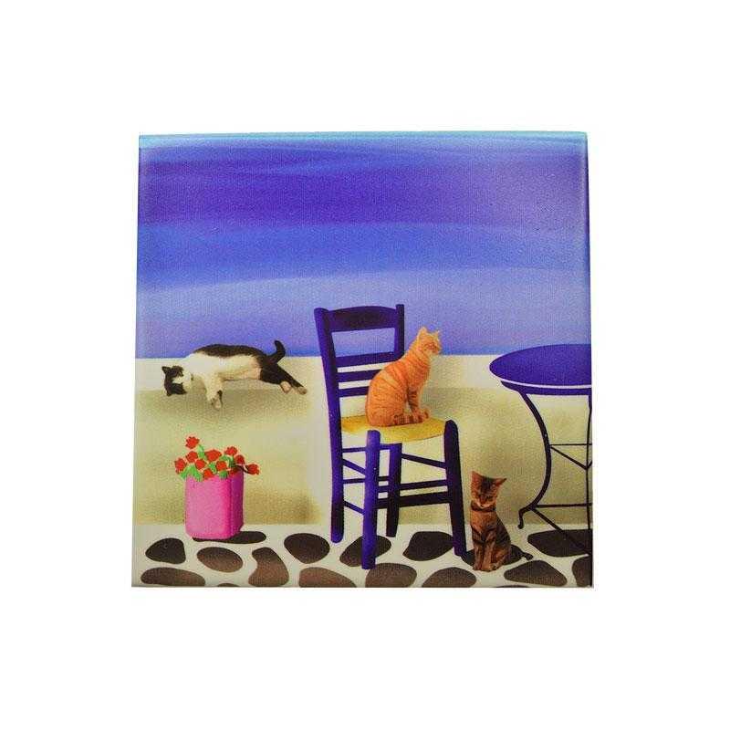 Cats Ceramic Coaster