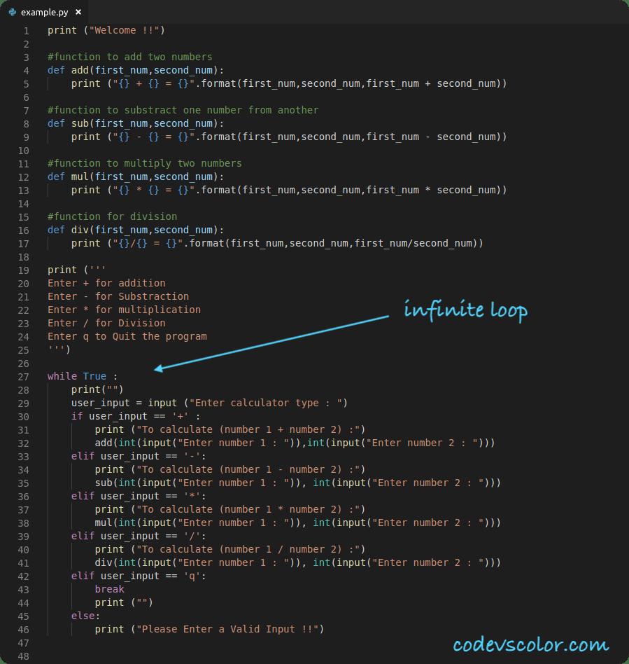 python calculator program