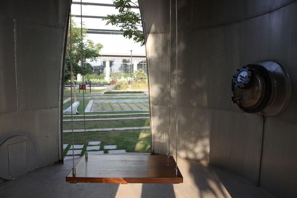Installation view: silo 03 FUTURE, TRINITY: Godrej Legacy Park silos, 2015