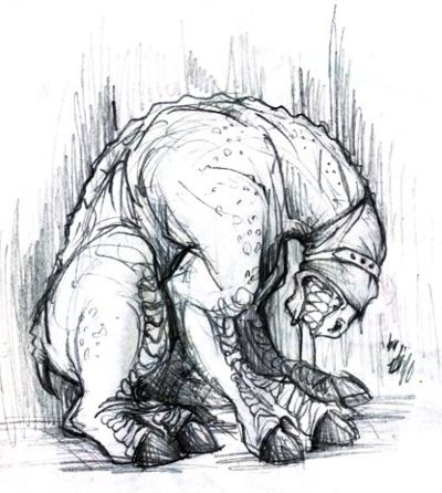 Horse Creature Sketch