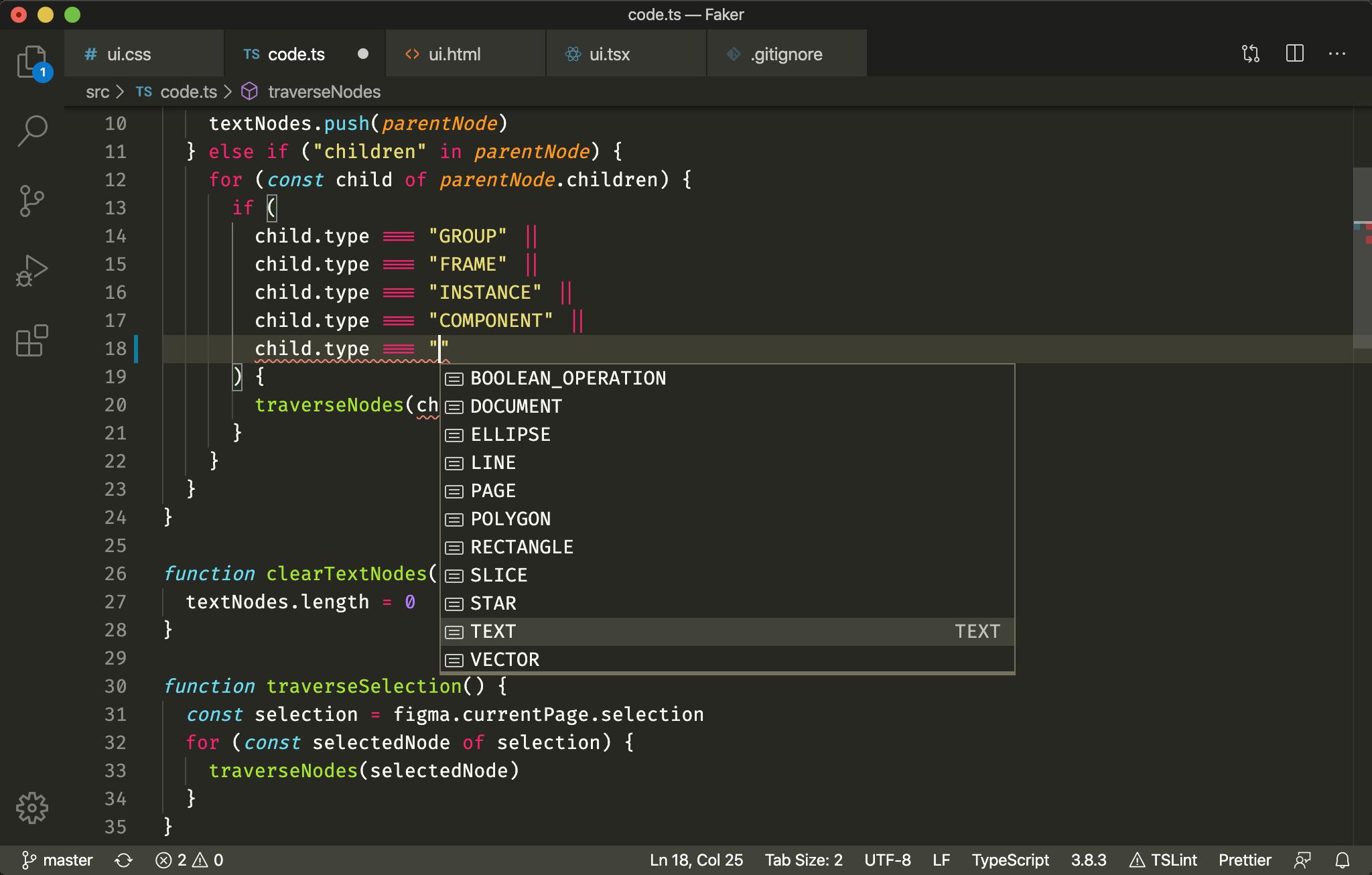TypeScript support.