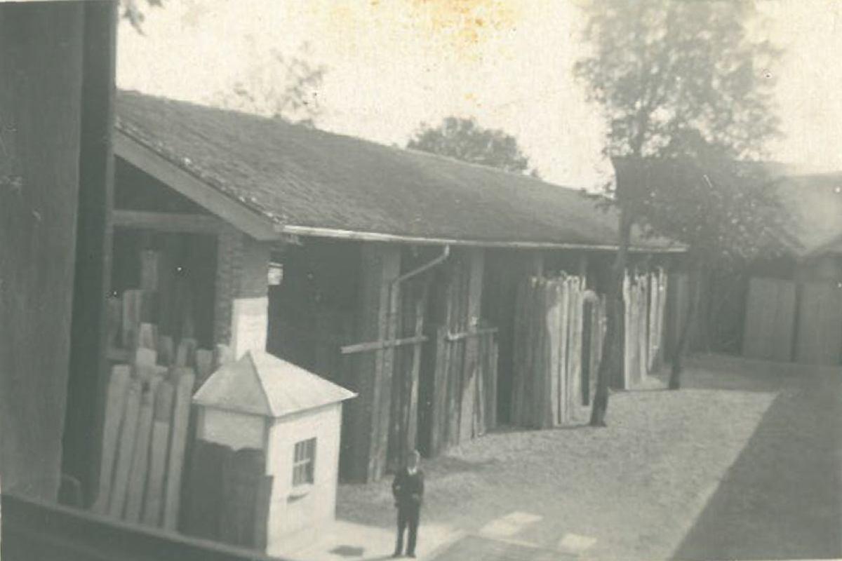 foto storiche commercio legname Galimberti