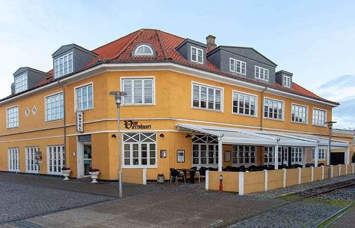 den flotte gule facade