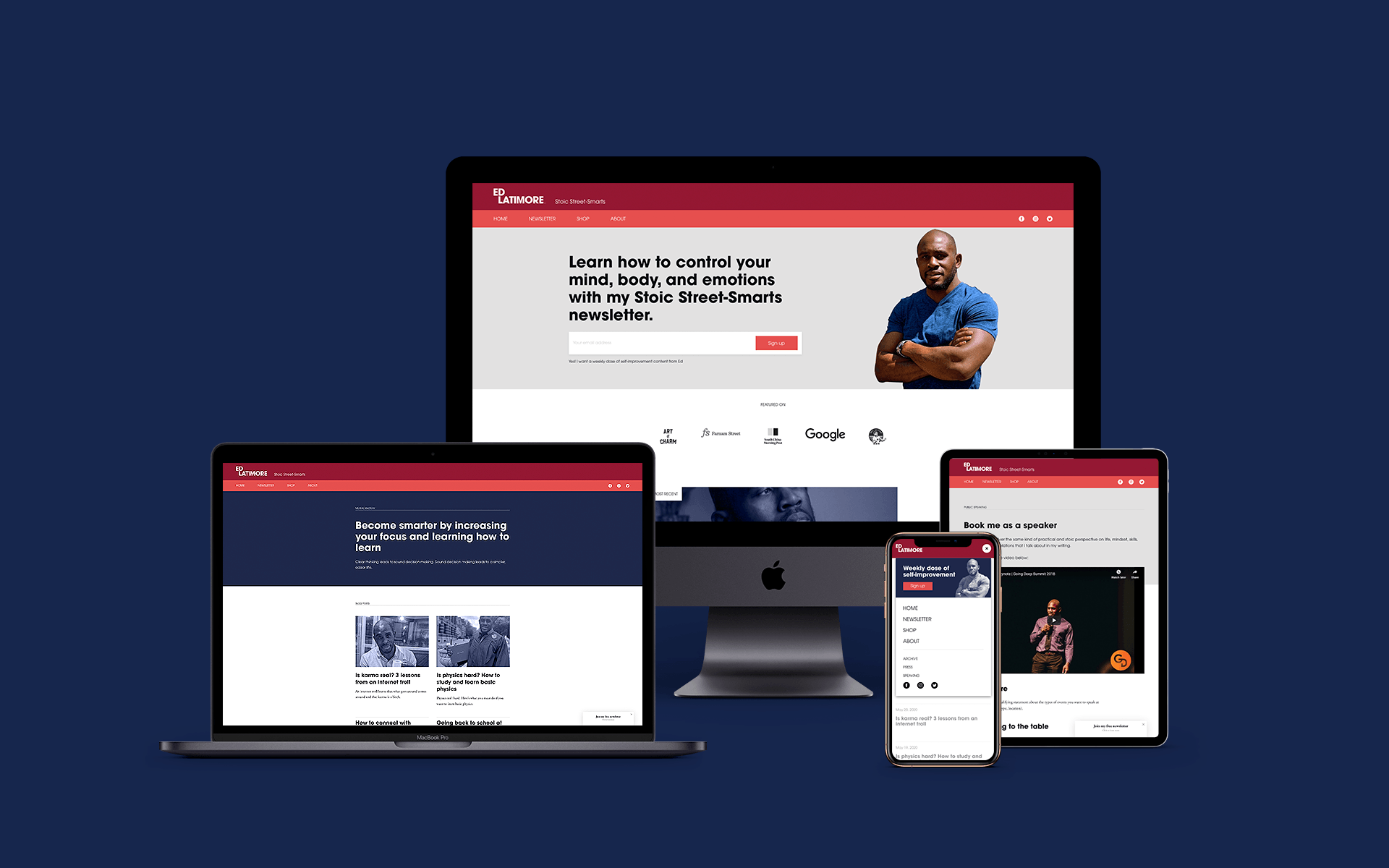 Personal brand website design