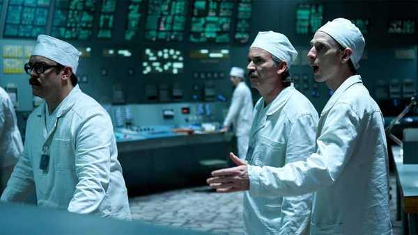 Cena do primeiro episodio da série Chernobyl da HBO