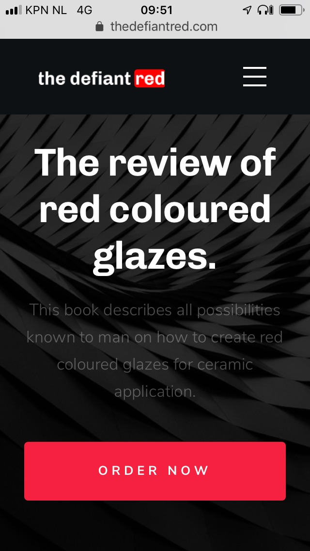 The Defiant Red: the standard book on red ceramic glazes