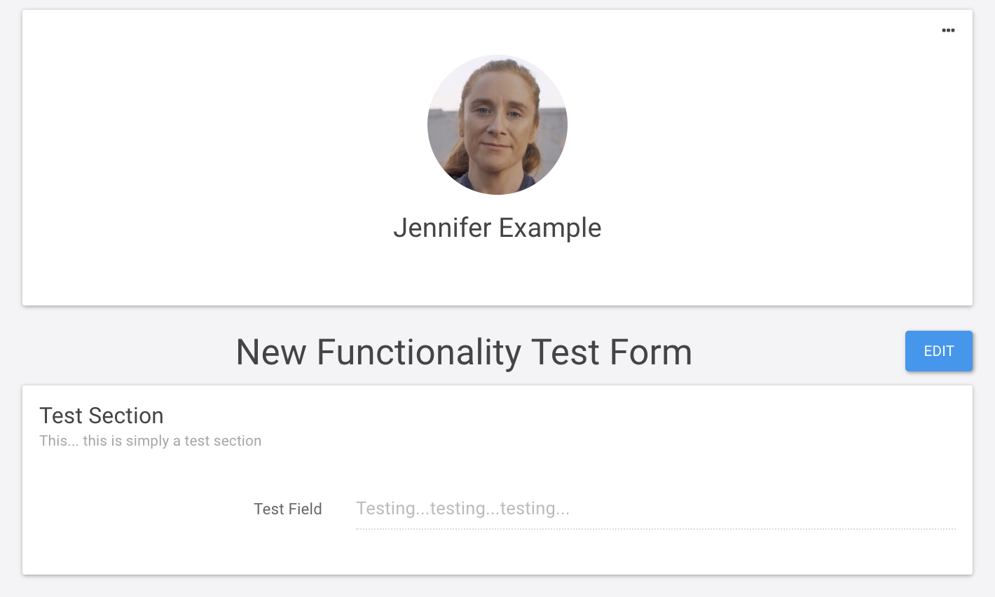Jennifer example form