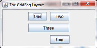Different sized buttons in a gridbaglayout
