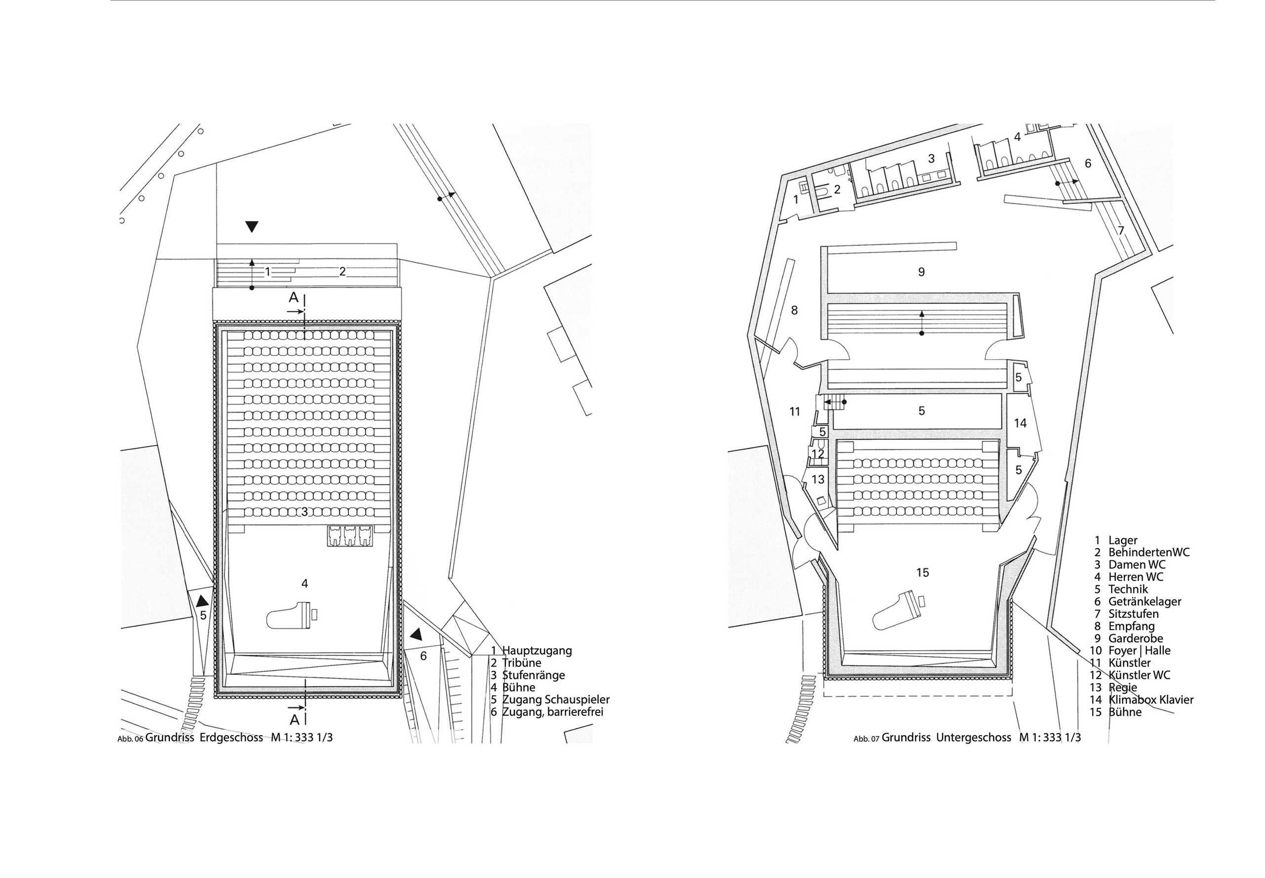 Grundriss Erdgeschoss und Untergeschoss