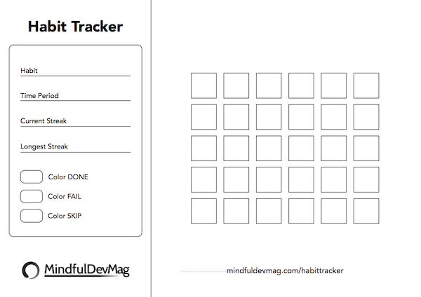printable habit tracker black and white version