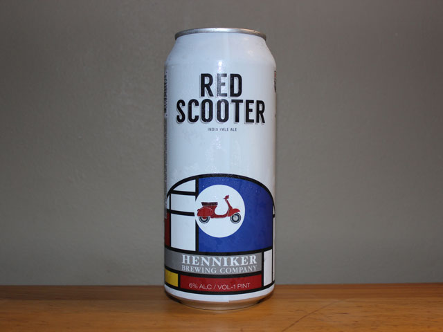 Red Scooter, an IPA brewed by Henniker Brewing Company