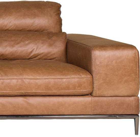 Homingxl Loungebank Titan Chaise Longue Linksleer Cognac 9200000081222450_3 44 cm