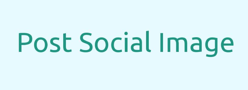 Post social image