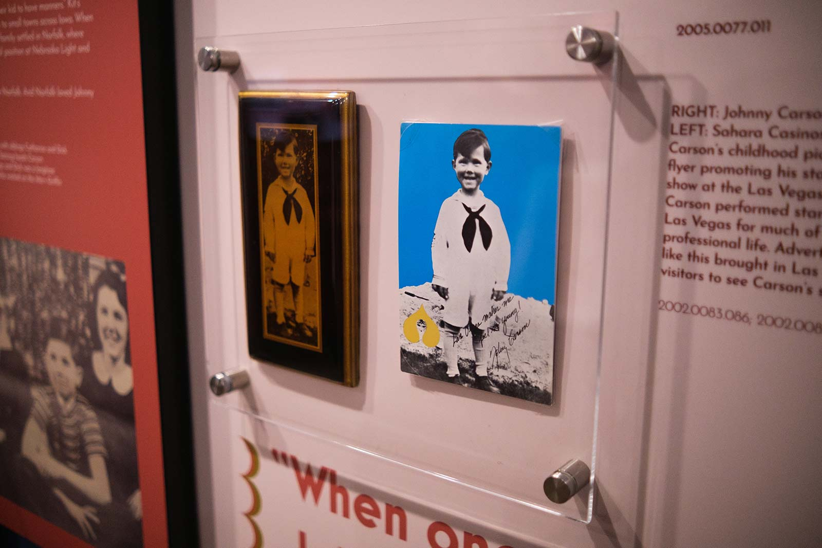 Johnny Carson Exhibit artifact mount