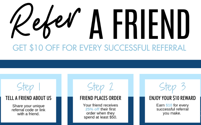 Refer a friend example