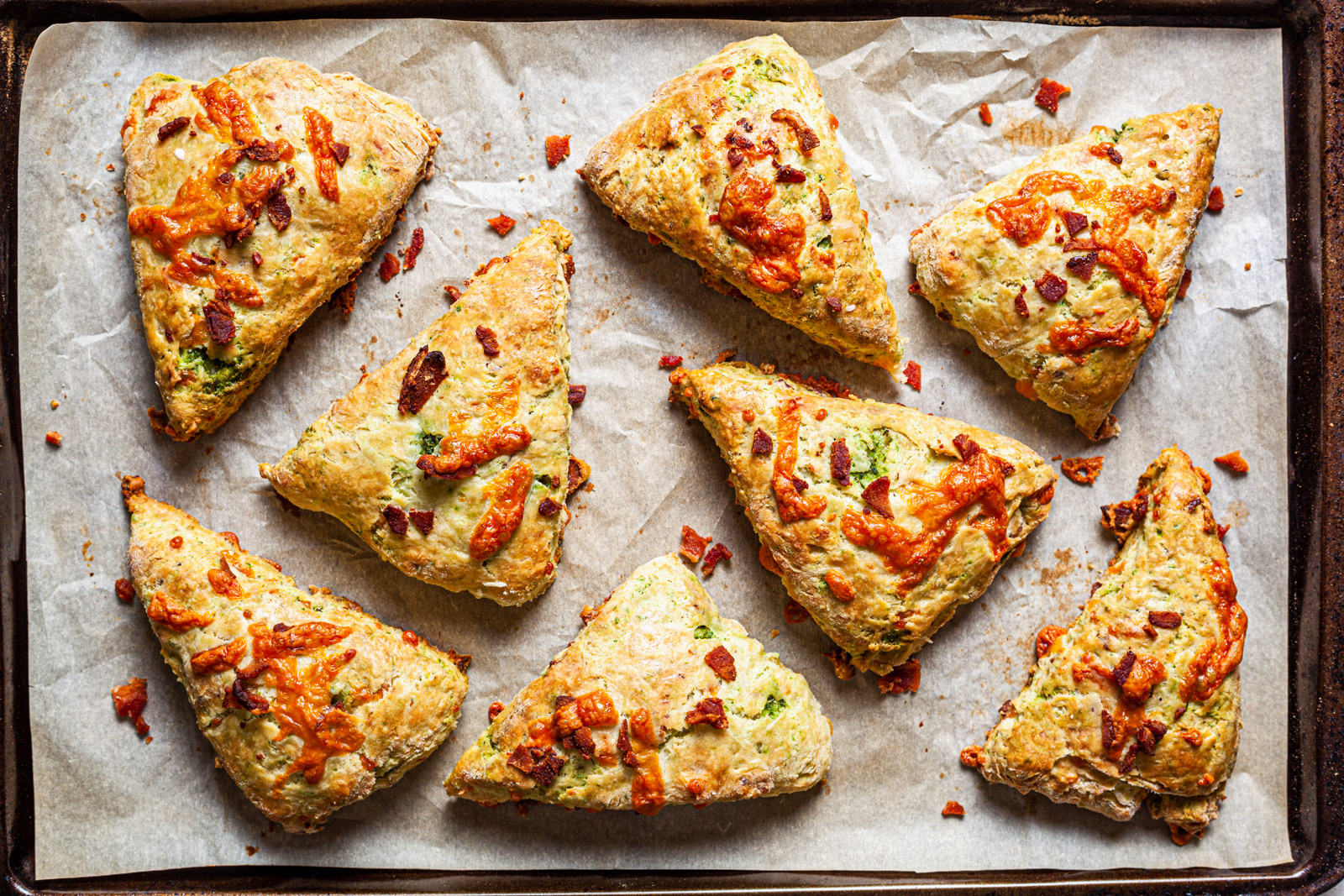 Bacon and Cheddar Scones With a Maple Butter Glaze