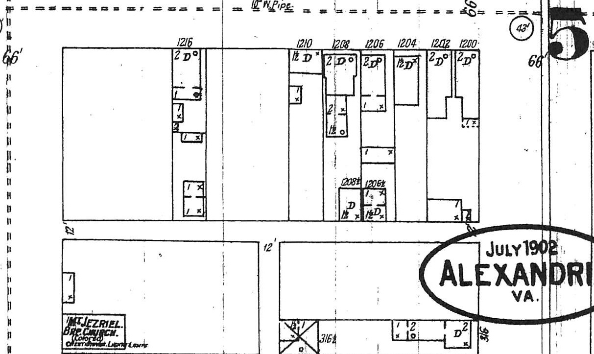 1902 Sanborn fire maps showing the 1200 block of Princess Street