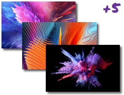 Color Splash theme pack
