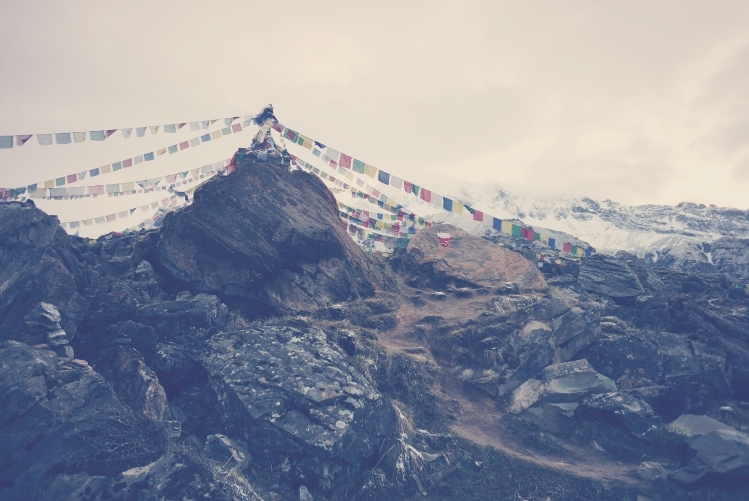 Annapurna Base Camp stupa