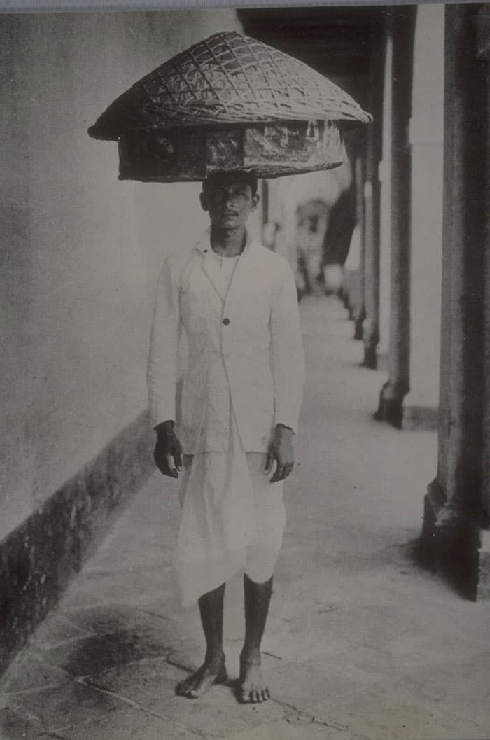 Hawker selling snacks, 1900s