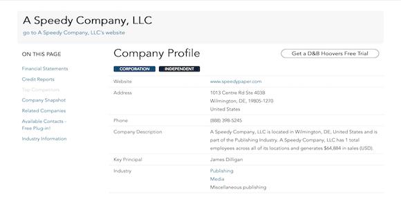 A Speedy Company LLC