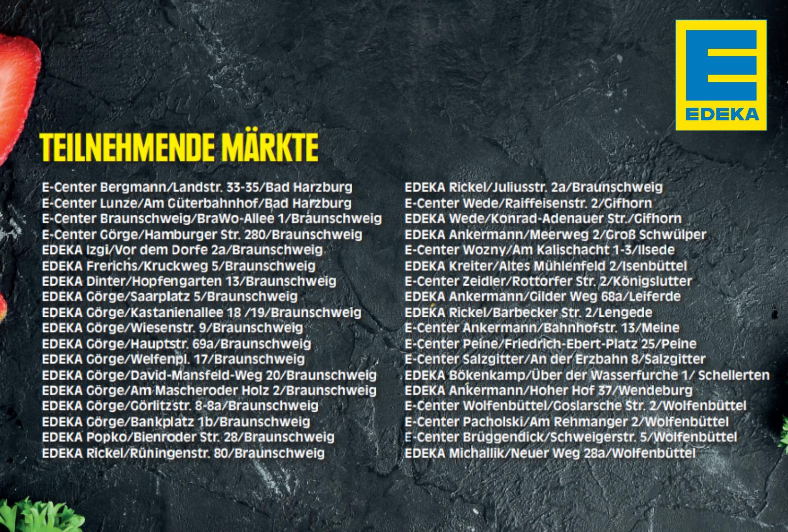 Teilnehmende EDEKA Märkte