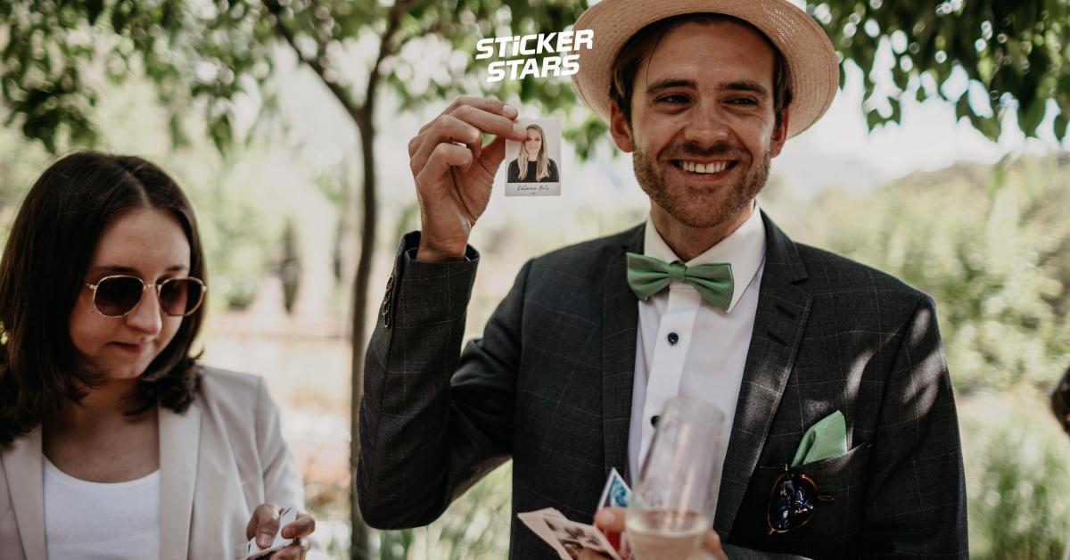 Hochzeitsbilder mal anders: Freunde als Sticker