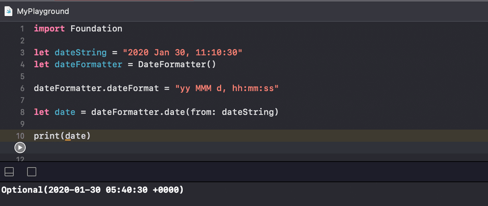 Swift string to date