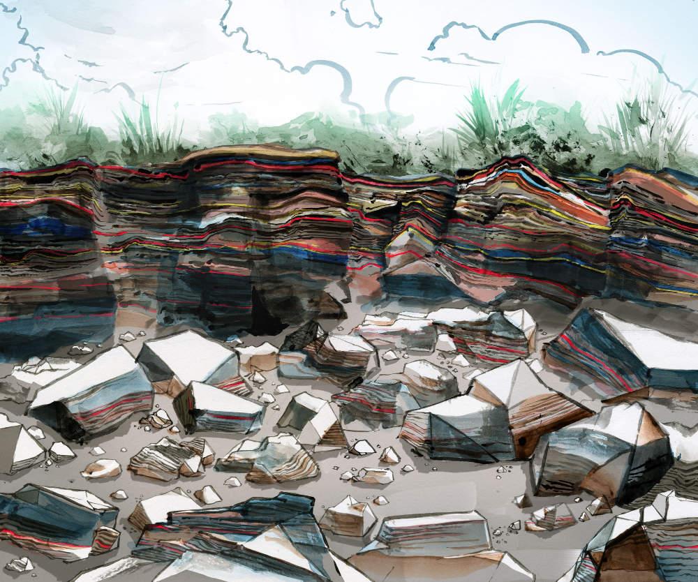 Eroded Asphalt